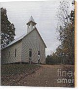 Cades Cove Church Wood Print