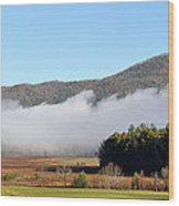 Cades Cove Fields Wood Print