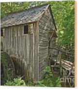 Cades Cove Grist Mill Closeup Wood Print