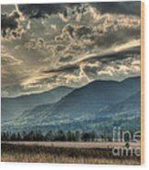 Cades Cove Hdr Spring 2014 Wood Print