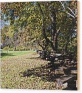 Cades Cove House And Split Rail Fence Wood Print