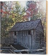 Cade's Cove Mill Wood Print