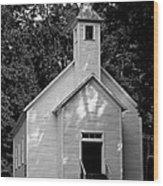 Cades Cove Missionary Baptist Church Wood Print