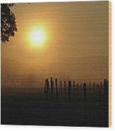 Cades Cove Sunrise IIi Wood Print