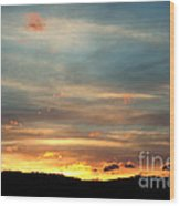 Cades Cove Sunset Wood Print