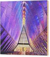 Cadet Chapel Interior, Us Air Force Wood Print