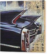 Cadillac Attack Wood Print