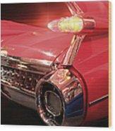 Cadillac Fin Tail Wood Print