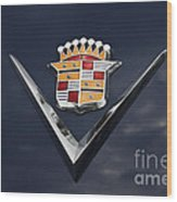 Cadillac Crest Wood Print