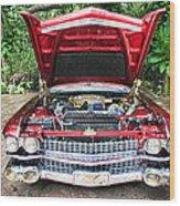 Cadillac Engine Wood Print