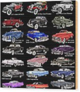Never Enough Cadillacs  Wood Print