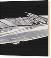 1963 64 Cadillac Roadster Concept Wood Print