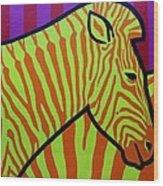 Cadmium Zebra Wood Print