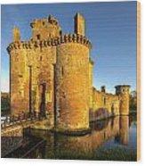 Caerlaverock Castle - 2 Wood Print