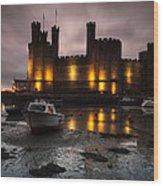 Caernarfon Castle Wales Wood Print