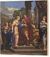 Caesar Giving Cleopatra The Throne Of Egypt, C.1637 Oil On Canvas Wood Print