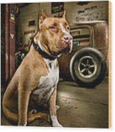 Caesar At Millers Chop Shop Wood Print by Yo Pedro