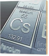 Caesium Chemical Element Wood Print