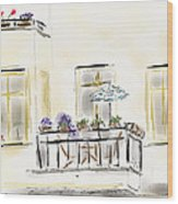 Cafe At Gorky Park Berlin Wood Print