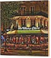 Cafe Le Champ Mars  Wood Print