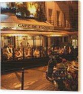 Cafe De Flore Wood Print