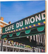 Cafe Du Monde Picture In New Orleans Louisiana Wood Print