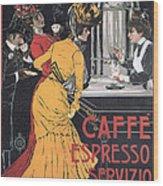 Cafe Espresso Wood Print