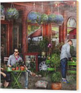Cafe - Hoboken Nj - A Day Out  Wood Print