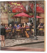 Cafe - Hoboken Nj - Cafe Trinity  Wood Print