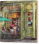 Cafe - Hoboken Nj - Empire Coffee And Tea Wood Print