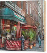 Cafe - Hoboken Nj - Vito's Italian Deli  Wood Print by Mike Savad