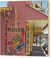 Cafe Mambo Paia Maui Hawaii Wood Print