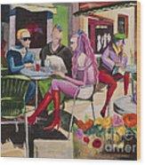 Cafe Marseille Wood Print