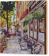 Cafe Nola Wood Print