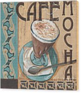 Cafe Nouveau 1 Wood Print