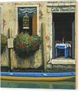 Cafe Tavolini Wood Print