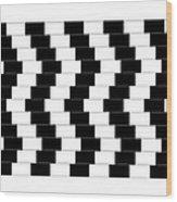 Cafe Wall Illusion Wood Print