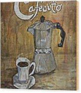Cafecito Wood Print