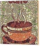 Caffe Wood Print