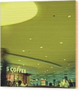 Caffe On The Fly Wood Print