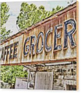 Caffee Grocery Wood Print