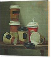 Caffeine Buzz Wood Print