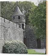 Cahir Castle Wall And Tower Wood Print