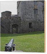 Cahir Castle Yard Wood Print