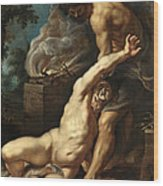 Cain Slaying Abel Wood Print