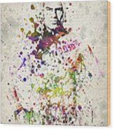 Cain Velasquez Wood Print by Aged Pixel