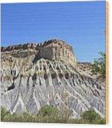 Caineville Mesa Utah Wood Print