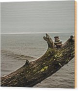 Cairn On Superior Wood Print