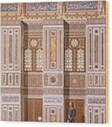 Cairo Interior Of The Mosque Wood Print