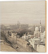 Cairo Looking West, From Egypt Wood Print